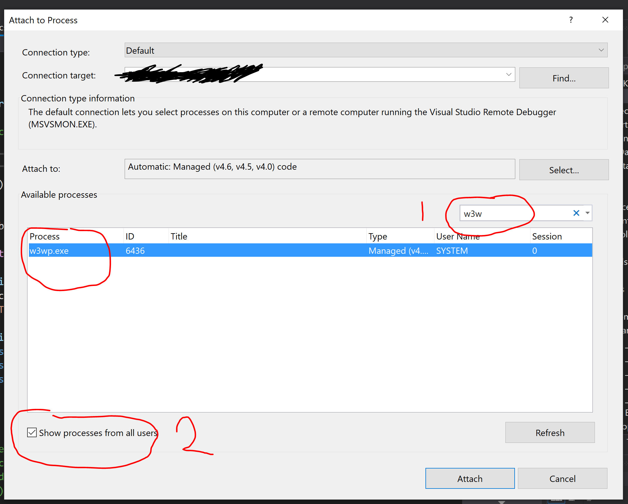 How to Debug Application Running in IIS from Visual Studio 2019
